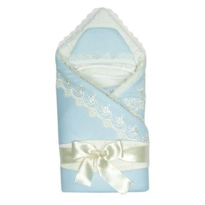 Конверт-одеяло Сонный Гномик Бусинка (голубой)