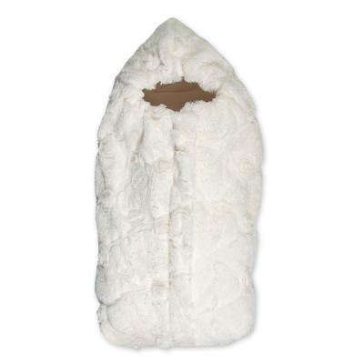 Конверт-одеяло с меховым владышем Сонный Гномик Афина (молочный)