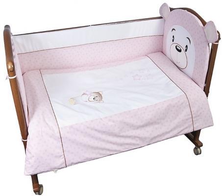 Комплект в кроватку 3 предмета Сонный Гномик Умка (розовый) комплект в кроватку сонный гномик комплект в кроватку мишкин сон 3 предмета бежевый