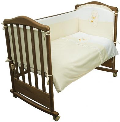 Комплект в кроватку 3 предмета Сонный Гномик Пушистик (бежевый)