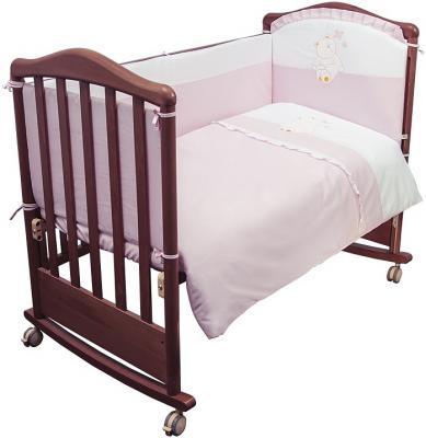 Комплект в кроватку 3 предмета Сонный Гномик Пушистик (розовый) карман на кроватку bombus светик розовый
