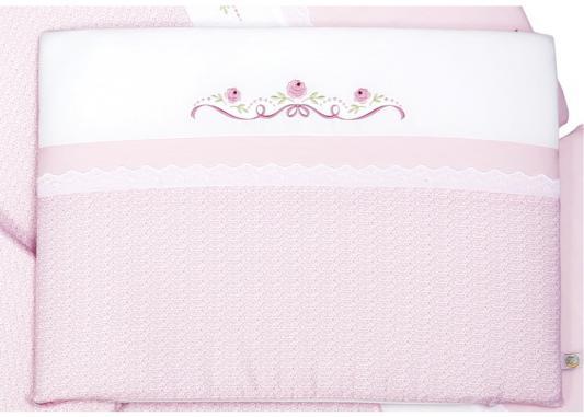 Комплект в кроватку 3 предмета Сонный Гномик Прованс (розовый) комплект в кроватку сонный гномик комплект в кроватку мишкин сон 3 предмета бежевый