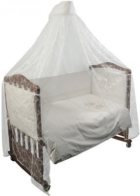 Комплект в кроватку 3 предмета Сонный Гномик Эльфы (молочный) цена