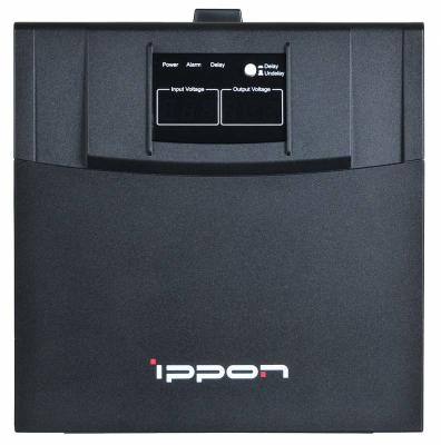 Стабилизатор напряжения Ippon AVR-3000 черный 4 розетки стабилизатор ippon avr 1000