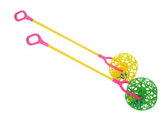 Каталка на палочке Совтехстром У743 разноцветный от 1 года пластик каталка на палочке s s toys вертолет желтый от 1 года пластик