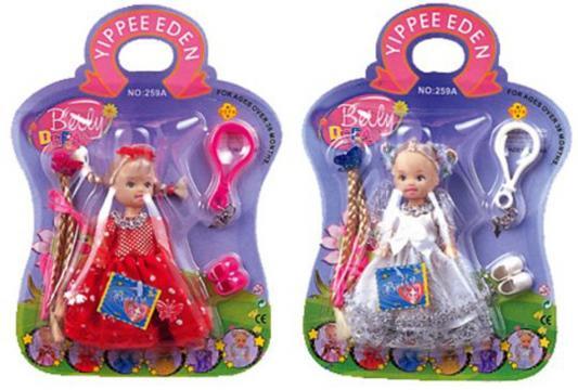 Кукла-брелок DEFA LUCY Beily с аксессуарами 10 см в ассортименте, 259A кукла defa lucy с коляской и собачкой 8205