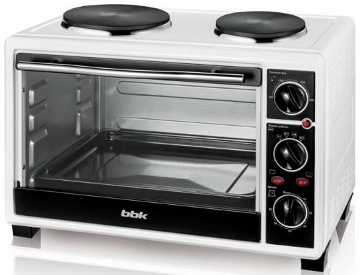 Мини-печь BBK OE2654M-2P белый чёрный мини печь bbk oe2654m 2p white black
