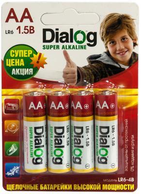 Батарейки Dialog LR6-4B AA 4 шт