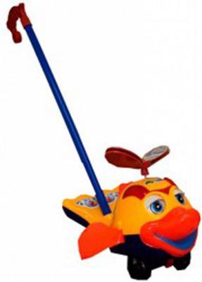Каталка на палочке S+S Toys Рыбка оранжевый от 1 года пластик каталка s s toys лев 0371 в пакете