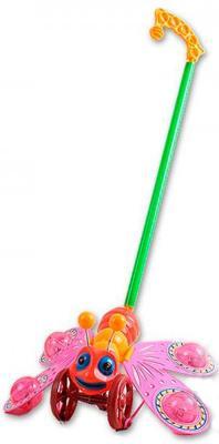 Каталка на палочке S+S Toys Бабочка разноцветный от 18 месяцев пластик