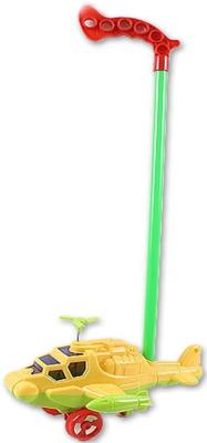 Каталка на палочке S+S Toys Вертолет желтый от 1 года пластик s s toys бабочка 28 см