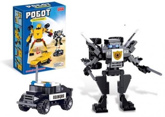 Конструктор Zhorya Робот-машина – Полиция 79 элементов ZYB-00050-2 машины zhorya автобус на р у zyb 00126 2