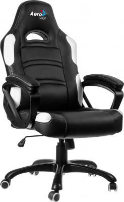 Кресло компьютерное игровое Aerocool AC80C-BW бело-черный 4710700955024