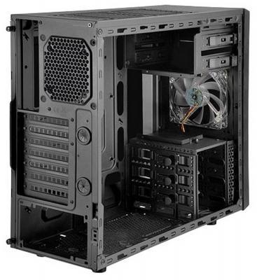 Корпус ATX SilverStone Precision SST-PS11B-W Без БП чёрный