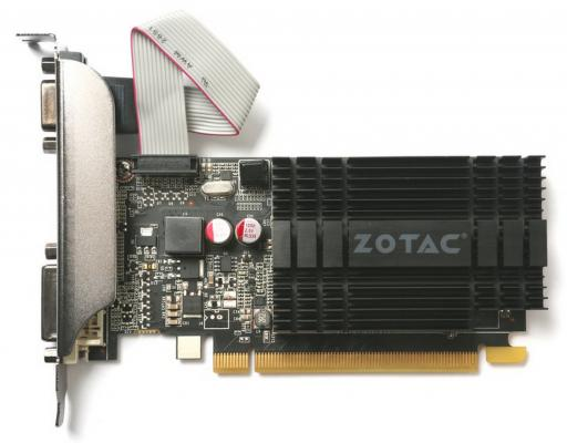 Видеокарта 2048Mb Zotac GeForce GT710 ZONE Edition PCI-E 64bit GDDR3 DVI HDMI VGA HDCP ZT-71302-20L Retail