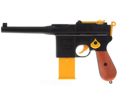 Пистолет Zhorya Кибер пушка c EVA патрон. черный желтый