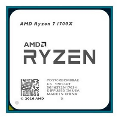 Процессор AMD Ryzen 7 1700X YD170XBCM88AE Socket AM4 OEM процессор amd ryzen 7 2700x oem