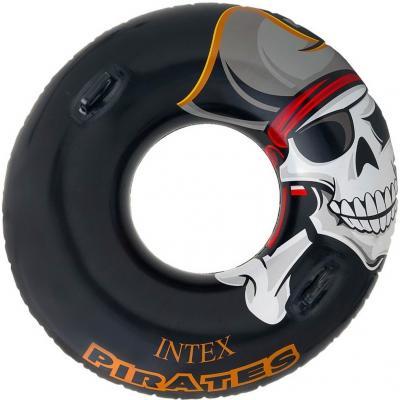 Надувной круг INTEX Пират 107см 58268 круги и нарукавники для плавания intex круг детский с ручками пират 107 см