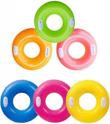 Надувной круг INTEX Hi-Gloss Tube ассортимент, 59258 intex надувной круг для плавания 76 см