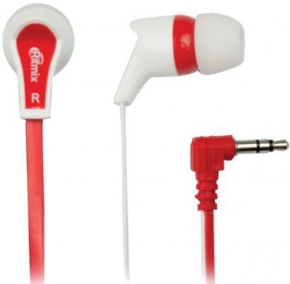 Наушники Ritmix RH-013 бело-красный аудио наушники ritmix гарнитуры ritmix rh 565m gaming