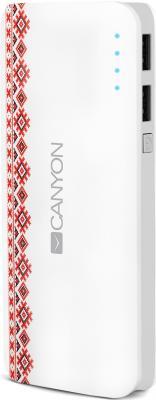 Портативное зарядное устройство Canyon CNE-CPB130V 13000мАч белый портативное зарядное устройство canyon cne cspb26go 2600мач золотистый