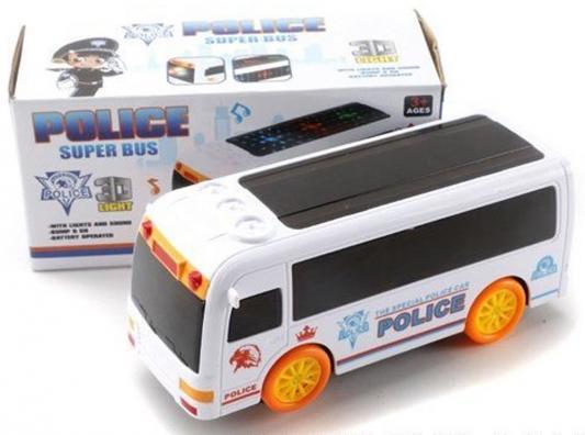 Автобус Shantou Gepai Полиция белый свет, звук, ZX168A