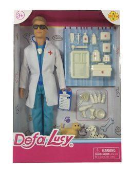 Кукла Defa Lucy Доктор-мужчина с аксесс. 61679 кукла defa lucy летние покупки 8220