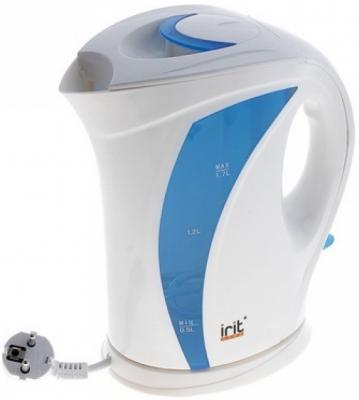 Чайник Irit IR-1120 2000 Вт белый голубой 1.7 л пластик