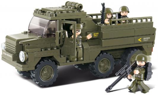 Конструктор SLUBAN Армейский грузовик M38-B0301 230 элементов конструктор sluban военно морской флот авианосец крейсер 615 элементов m38 b0390