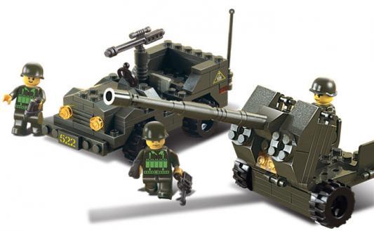 Конструктор SLUBAN Зенитное орудие и джип M38-B5900 138 элементов