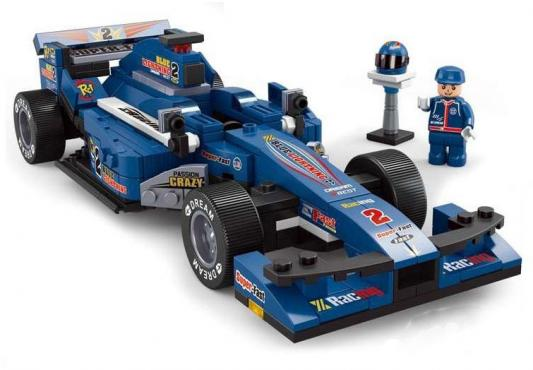 Конструктор SLUBAN Синий гоночный автомобиль M38-B0353 277 элементов конструктор sluban red cliff крепость скала 445 элементов m38 b0265