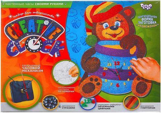 Набор для творчества ДАНКО-ТОЙС Creative clock средний Медвежонок от 5 лет  СС-01-05