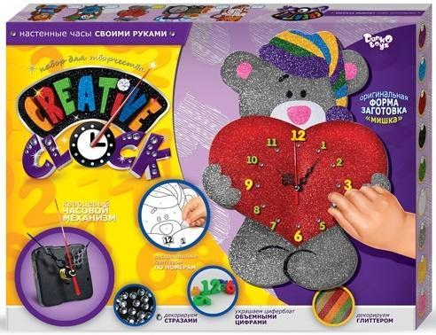 Набор для творчества ДАНКО-ТОЙС Creative clock Мишка от 5 лет  СС-01-03 набор для творчества данко тойс my color clutch пони от 5 лет