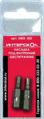 Насадка Интерскол Hexdriver 4х25 мм 2шт 0403  002