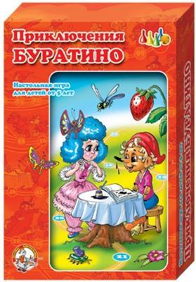 Настольная игра Десятое королевство ходилка Приключения Буратино 00288 игра настольная обучающая десятое королевство чиполлино приключения буратино 2в1