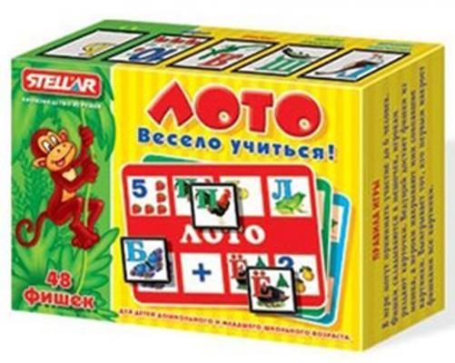 Купить Настольная игра лото Стеллар Весело учиться 904, СТЕЛЛАР, 125x40x165 мм, Лото, домино, шашки и шахматы