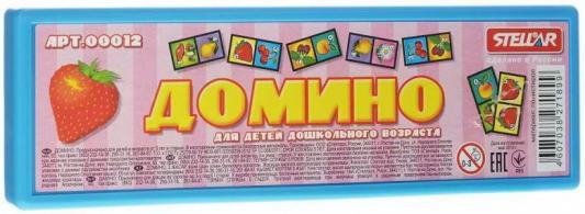 Настольная игра домино СТЕЛЛАР фрукты 12 стеллар домино забавные животные стеллар