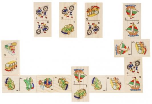 Настольная игра домино Русские деревянные игрушки Транспорт  Д215а