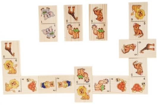 Настольная игра домино Русские деревянные игрушки Животные-1  Д202а