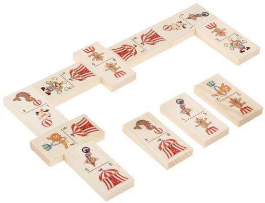 Настольная игра домино Русские деревянные игрушки большое Цирк  Д201а