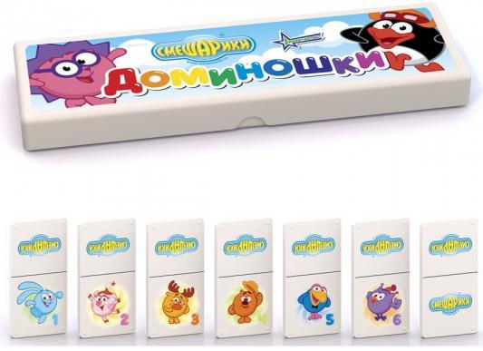 Настольная игра домино Нордпласт Смешарики 840 настольная игра домино стеллар хорошие знакомые 9