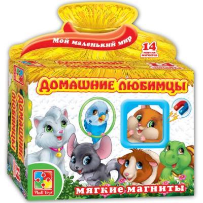 Магнитная игра Vladi toys развивающая Домашние любимцы vladi toys игра на магнитах домашние любимцы vladi toys