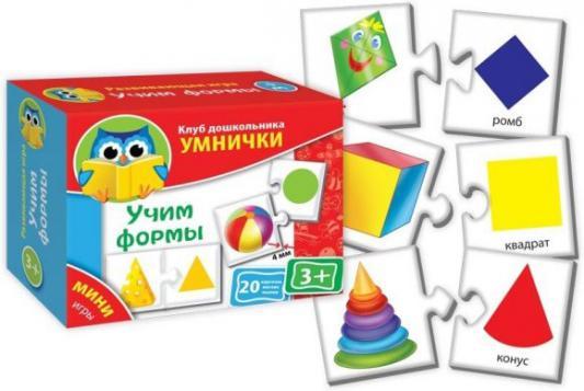 Настольная игра развивающая Vladi toys Учим формы  VT1309-01 набор для творчества тм vladi раскраски глиттером сова