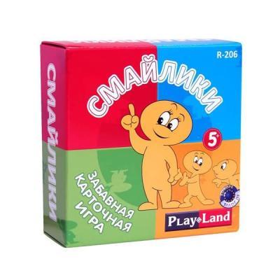 Настольная игра карточная PLAYLAND Смайлики R-206 playland настольная игра путешествие по россии