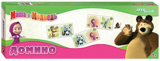 Настольная игра Step Puzzle домино Маша и Медведь настольная игра домино step puzzle маша и медведь