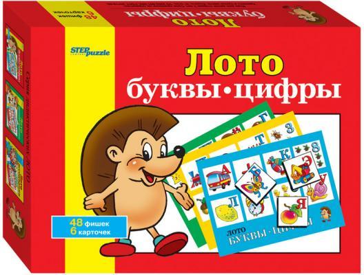 Настольная игра Step Puzzle лото Буквы-цифры 80301