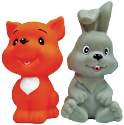 Игрушка для купания для ванны Жирафики Лисёнок и зайчонок витраж из пластилина набор 1 зайчонок и лягушонок