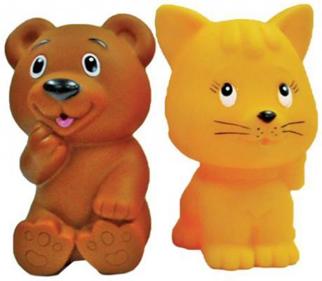 Игрушка для купания для ванны Жирафики Мишка и котенок 681270 игрушки для ванны babymoov игрушка для купания кубики а104925