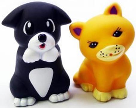 Набор для купания Жирафики Котенок и щенок 68865 игрушки для ванны жирафики набор для купания черепашка и пингвин