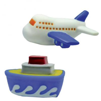Набор игрушек для ванны Жирафики Самолёт и пароход 681265 игрушки для ванны огонек набор игрушек для купания выпечка